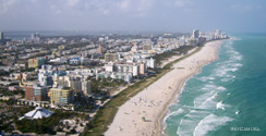 South Beach Florida Aerial